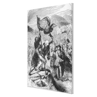 Erección del estándar del pretendiente joven lona estirada galerias
