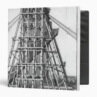 Erección del obelisco egipcio antiguo