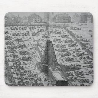 Erección del obelisco egipcio antiguo mouse pad