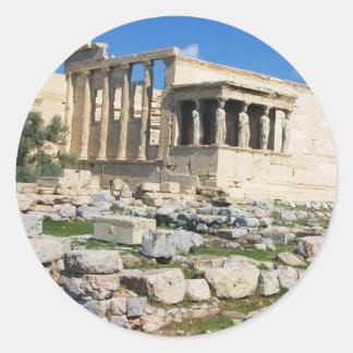 Erechtheum Acropolis - GREECE Classic Round Sticker