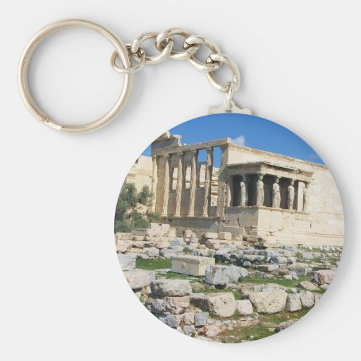 Erechtheum Acropolis - GREECE Basic Round Button Keychain