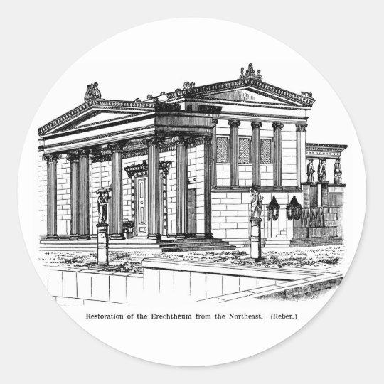 Erechtheum Reconstruction Classic Round Sticker