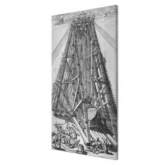 Erecting the Ancient Egyptian Obelisk Canvas Print