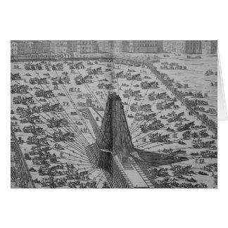 Erecting the Ancient Egyptian Obelisk Card