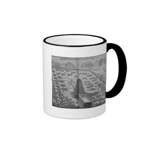 Erecting the Ancient Egyptian Obelisk Coffee Mug