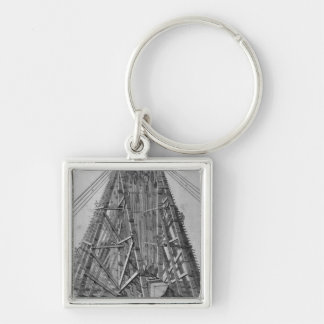 Erecting the Ancient Egyptian Obelisk Keychain
