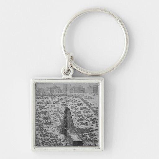 Erecting the Ancient Egyptian Obelisk Keychain