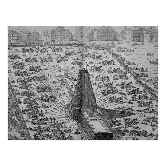 Erecting the Ancient Egyptian Obelisk Postcard