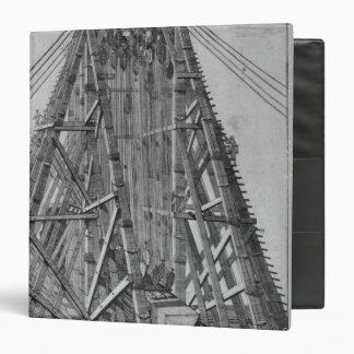 Erecting the Ancient Egyptian Obelisk Vinyl Binder