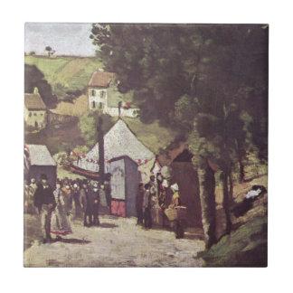 Eremitage, Pontoise de Paul Cezanne Azulejo Cuadrado Pequeño