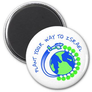 Eretz Israel 2 Inch Round Magnet