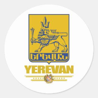 Ereván Pegatina Redonda