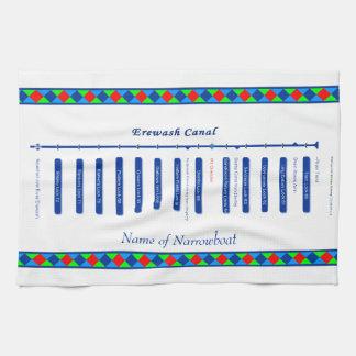 Erewash Canal Route Map UK Inland Waterways Blue Hand Towel