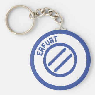 Erfurt Basic Round Button Keychain