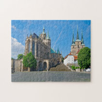 Erfurt Cathedral Germany. Jigsaw Puzzle