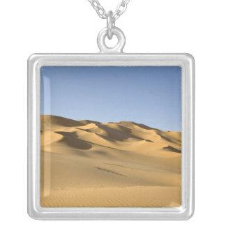 Erg Awbari, Sahara desert, Fezzan, Libya. 5 Square Pendant Necklace