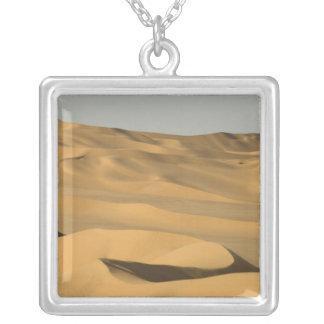 Erg Awbari, Sahara desert, Fezzan, Libya. Square Pendant Necklace