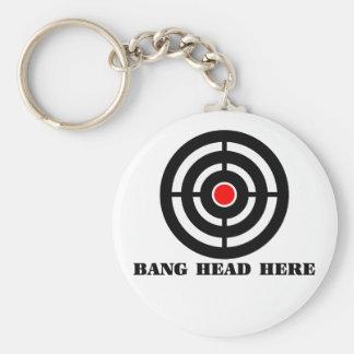 Ergonomic Stress Relief: Bang Head Here Keychain