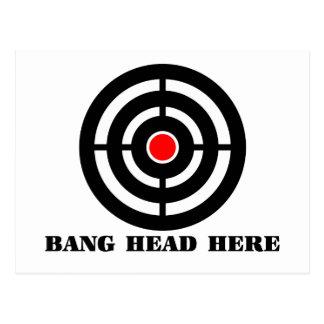 Ergonomic Stress Relief: Bang Head Here Postcard