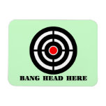 Ergonomic Stress Relief: Bang Head Here Rectangle Magnets
