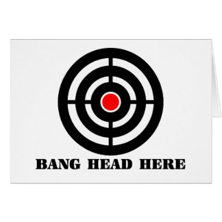 Ergonomic Stress Relief: Bang Head Here Stationery Note Card