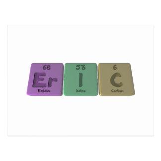 Eric  as Erbium Iodine Carbon Postcard