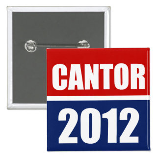 ERIC CANTOR 2012 2 INCH SQUARE BUTTON