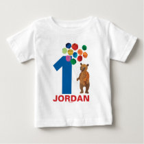 Eric Carle | Beary Birthday | Name & Age Baby T-Shirt