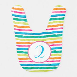 Eric Carle | Beary Girl Striped Birthday Baby Bib
