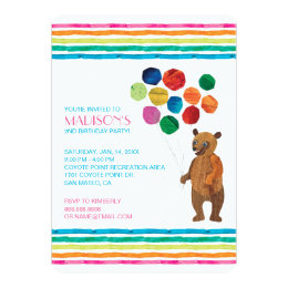 Eric carle invitations announcements zazzle eric carle beary girl striped birthday card filmwisefo Choice Image