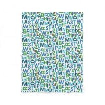 Eric Carle | Blue & Green Alphabet Pattern Fleece Blanket