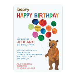 Eric carle invitations announcements zazzle eric carle brown bear beary happy birthday card filmwisefo Choice Image