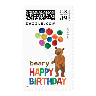 Eric Carle | Brown Bear - Beary Happy Birthday. Postage