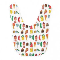 Eric Carle | Caterpillar and Food Pattern Bib