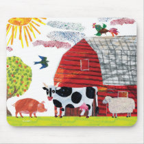 Eric Carle   Colorful Farm Scene Mouse Pad