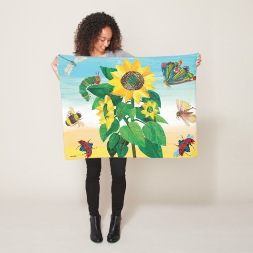 Eric Carle | Garden Flower Scene Fleece Blanket