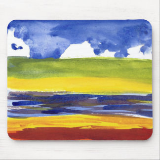 Eric Carle Style Watercolor Fine Art Mousepad