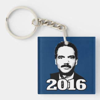 Eric Holder 2016 Candidate Double-Sided Square Acrylic Keychain