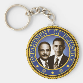 Eric Holder and the Department of Injustice Keychain