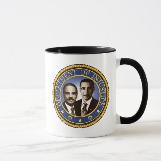Eric Holder and the Department of Injustice Mug