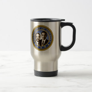 Eric Holder and the Department of Injustice Travel Mug