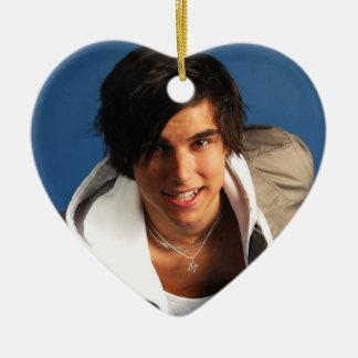 Eric Saade Heart Shaped Ornament