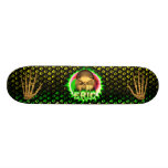 Eric skull green fire Skatersollie skateboard