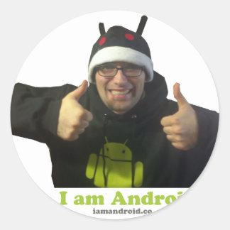 Eric, the IamAndroid Guy! Classic Round Sticker