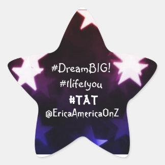 ¡Erica América… DreamBIG! Pegatina En Forma De Estrella