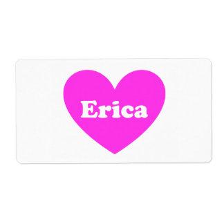 Erica Etiquetas De Envío