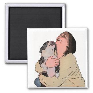 Erica - gaitero - dibujo animado imán cuadrado