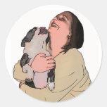 Erica - gaitero - dibujo animado pegatina redonda
