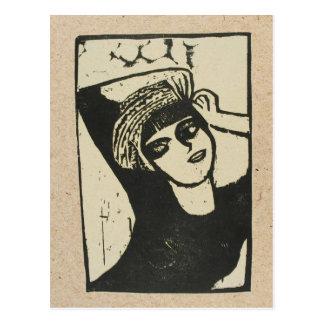 Erich Heckel woodcut post card