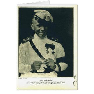 Erich Von Stroheim 1922 vintage portrait card